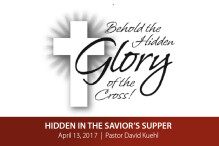 Hidden in the Savior's Supper (Maundy Thursday)