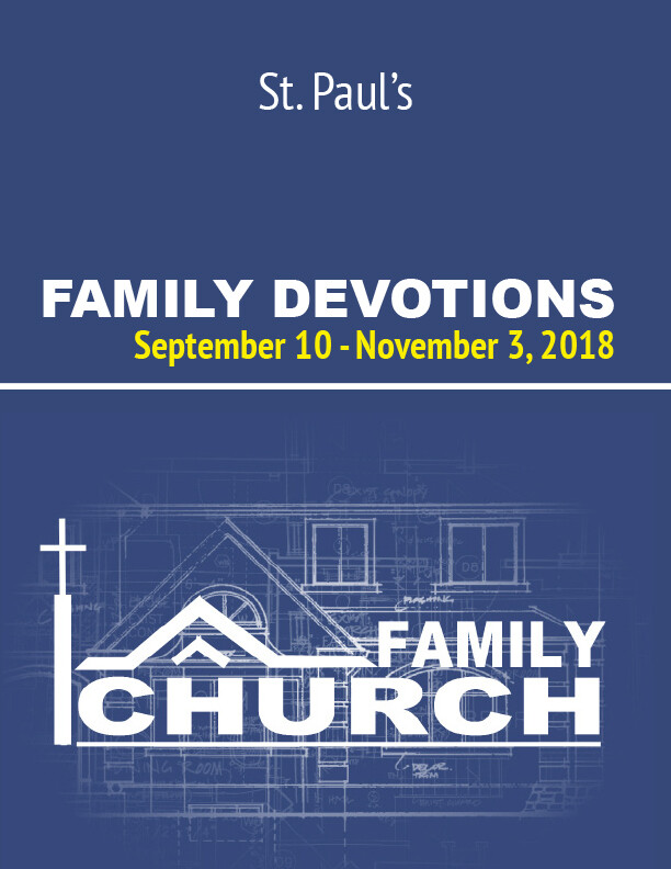 Family Church Devotional Booklet
