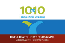 Joyful Hearts – First-Fruits Giving