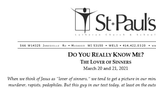 Worship Folder 3-21-21 (Traditional Service)